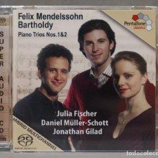 CDs de Música: CD. MENDELSSOHN BARTHOLDY. PIANO TRIOS NOS. 1 & 2. Lote 278626803