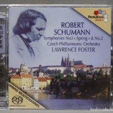 CDs de Música: CD. SYMPHONIES NOS. 1 AND 2. SCHUMANN. FOSTER. Lote 278626988