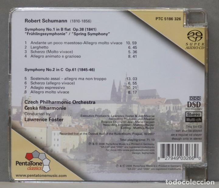 CDs de Música: CD. Symphonies Nos. 1 and 2. SCHUMANN. Foster - Foto 2 - 278626988