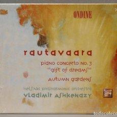 """CDs de Música: CD. IANO CONCERTO NO. 3 """"GIFT OF DREAMS"""". AUTUMN GARDENS. RAUTAVAARA. Lote 278627193"""
