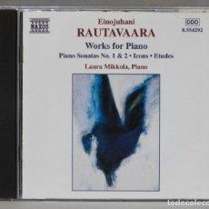 CDs de Música: CD. RAUTAVAARA. LAURA MIKKOLA. WORKS FOR PIANO. Lote 278627333