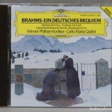 CDs de Música: CD. EIN DEUTSCHES REQUIEM. BRAHMS. GIULINI. Lote 278627478