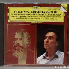 CDs de Música: CD. ALT-RHAPSODIE. SCHICKSALSLIED. NÄNIE. GESANG DER PARZEN. BRAHMS. Lote 278627568