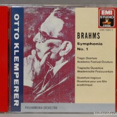 CDs de Música: CD. BRAHMS, SYMPHONIE NO. 1. KLEMPERER. Lote 278627613