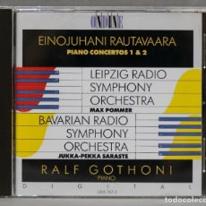 CDs de Música: CD. PIANO CONCERTOS 1 & 2. RAUTAVAARA. GOTHONI. Lote 278627653