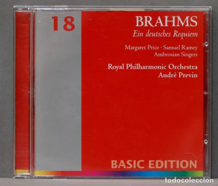 CD. EIN DEUTSCHES REQUIEM. BRAHMS. PREVIN (Música - CD's Clásica, Ópera, Zarzuela y Marchas)