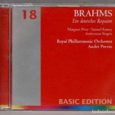 CDs de Música: CD. EIN DEUTSCHES REQUIEM. BRAHMS. PREVIN. Lote 278627713