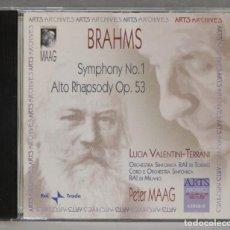 CDs de Música: CD. SYMPHONY NO. 1. ALTO RHAPSODY OP. 53. BRAHMS. MAAG. Lote 278627788
