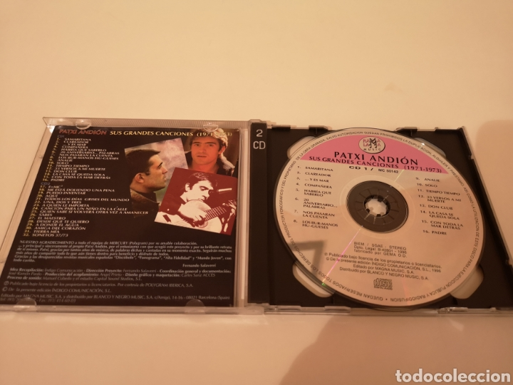 CDs de Música: PATXI ANDION SUS GRANDES CANCIONES (1971-1973) 2 CDS ORIGINALES - Foto 3 - 278629293