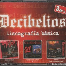 CDs de Música: 3 X CD DECIBELIOS - DISCOGRAFIA BASICA - PUNK. Lote 278699113
