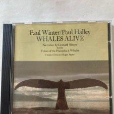 CDs de Música: PAUL WINTER/PAUL HALLEY-WHALES ALIVE-1987-MUY BUEN ESTADO. Lote 278927933