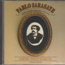 CDs de Música: PABLO SARASATE CD OBRAS PARA VIOLÍN Y PIANO 1992 PDI ANGEL JESÚS GARCÍA. Lote 278981828
