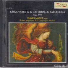 CDs de Música: ORGANISTES DE LA CATEDRAL DE BARCELONA CD SEGLE XVIII DAVID MALET 2005. Lote 278982408