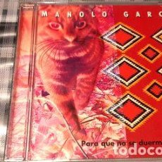CDs de Música: -MANOLO GARCIA PARA QUE NO SE DUERMAN MIS SENTIDOS CD PRO. Lote 279049093