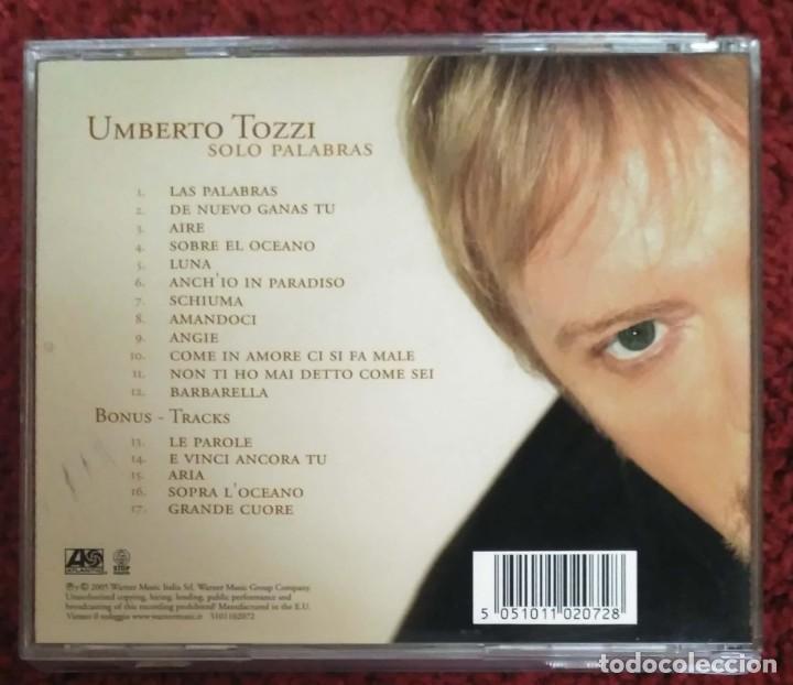 CDs de Música: UMBERTO TOZZI (SOLO PALABRAS) CD 2005 - Foto 2 - 279246223