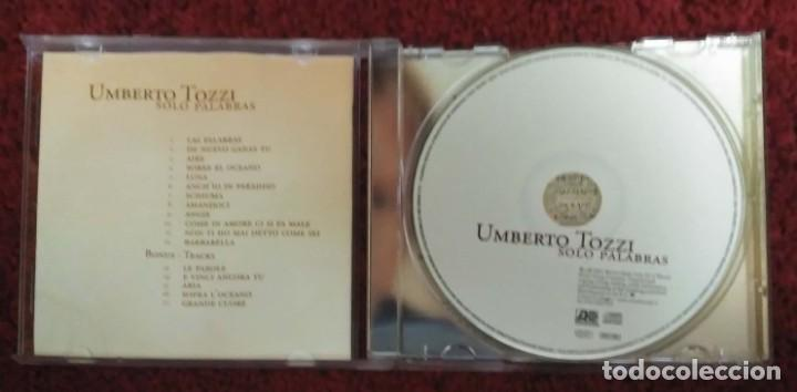CDs de Música: UMBERTO TOZZI (SOLO PALABRAS) CD 2005 - Foto 3 - 279246223