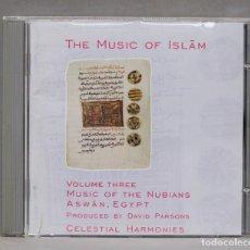 CDs de Música: CD. THE MUSIC OF ISLĀM. VOLUME THREE. MUSIC OF THE NUBIANS, ASWĀN, EGYPT. Lote 279321863