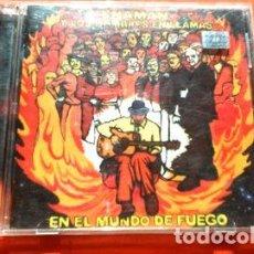 CDs de Música: -SHAMAN Y LOS HOMBRES EN LLAMAS EN EL MUNDO DE FUEGO. Lote 279195293