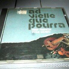 CDs de Música: -CD AD VIELLE QUE POURRA NEW FRENCH FOLK MUSIC 23V. Lote 279195303