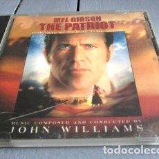 CDs de Música: -CD SOUNDTRACK THE PATRIOT MEL GIBSON JOHN WILLIAMS 19A. Lote 279244018