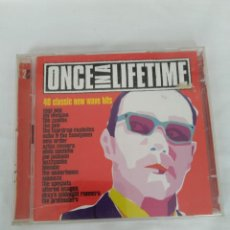 CDs de Música: ONCE IN A LIFETIME,40 NEW WAVE HITS,DOBLE CD. Lote 279352583
