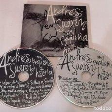 CDs de Música: ANDRÉS SUÁREZ – MI PEQUEÑA HISTORIA CD + DVD FIRMADO. Lote 279526618
