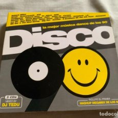 CD de Música: DISCO 90 VOL. 1 MIXED BY DJ TEDU (BLANCO Y NEGRO). Lote 279561338