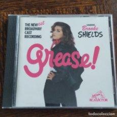 CDs de Música: GREASE - BSO CD EL MUSICAL BROADWAY - CON BROOKE SHIELDS -. Lote 279568818