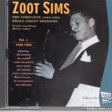 CDs de Música: ZOOT SIMS – THE COMPLETE 1944-1954 SMALL GROUP SESSIONS VL1. Lote 279655603