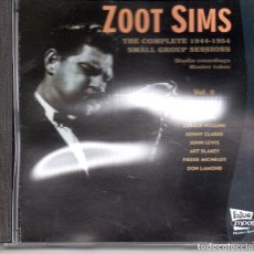 CDs de Música: ZOOT SIMS – THE COMPLETE 1944-1954 SMALL GROUP SESSIONS VOL.2 - (CD NUEVO PRECINTADO ). Lote 280105903