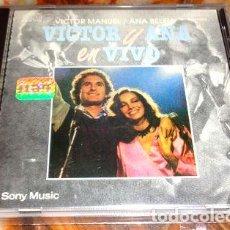 CDs de Música: VICTOR MANUEL ANA BELEN VICTOR Y ANA EN VIVO CD ARG. Lote 280082773