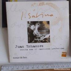 CDs de Música: 1 CD JUAN ECHANOVE RECITA 12 CANCIONES DE SABINA 2002 FNAC. Lote 280119663