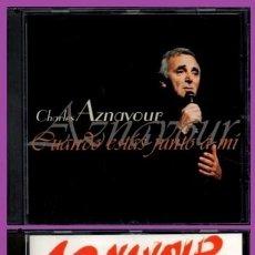 CD de Música: C483 - CHARLES AZNAVOUR. 2 CDS. EN ESPAÑOL. 32 CANCIONES. GRANDES EXITOS. RECOPILATORIO. (VOL. I+II). Lote 280279618