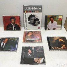 CDs de Música: SUPER LOTE 6 CD JULIO IGLESIAS + 1 LIBRO CON CD. Lote 280296698