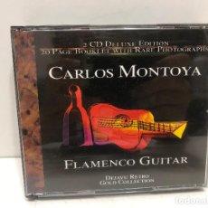 CDs de Música: 2 CD'S CARLOS MONTOYA. FLAMENCO GUITAR DELUXE EDITION. Lote 280355223
