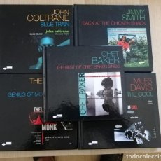 CDs de Música: LOTE 5 CD-LIBROS JAZZ - MILES DAVIS - JOHN COLTRANE, ETC. Lote 280375058