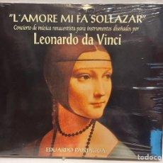 CDs de Música: EDUARDO PANIAGUA / LAMORE MI FA SOLLAZAR / CONCIERTO DE MÚSICA RENACENTISTA / PRECINTADO / DIFÍCIL. Lote 280807508