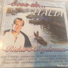 CD di Musica: RICHARD CLAYDERMAN -ECOS DE ITALIA. Lote 280907008
