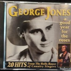 CDs de Música: GEORGE JONES / A GOOD YEAR FOR THE ROSES / 20 HITS / CD - PRISM LEISURE / 20 TEMAS / IMPECABLE.. Lote 281802693