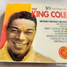 CDs de Música: NAT KING COLE - 30 GRANDES ÉXITOS / 2 CDS. Lote 281967023