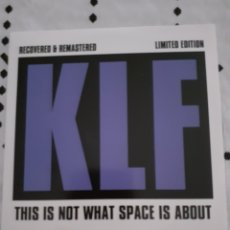 CDs de Música: THE KLF RECOVERED AND REMASTERED CD THIS IS NOT WHAT SPACE IS ABOUT RARE. Lote 282944593