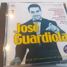 CDs de Música: JOSÉ GUARDIOLA - EP´S EN DISCOS REGAL (1958-59) 2 CDS / RAMA LAMA MUSIC. Lote 283250613
