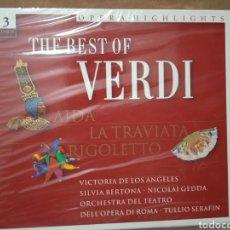 CDs de Música: 3CD BOX THE BEST OF VERDE . AIDA- LA TRAVIATA -RIGILETTO . NUEVO SIN ABRIR. Lote 283473243