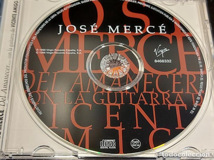 CDs de Música: FIRMADO !! JOSÉ MERCÉ / DEL AMANECER...CON VICENTE AMIGO / 9 TEMAS / IMPECABLE + ENTRADA CONCIERTO. - Foto 2 - 284007258
