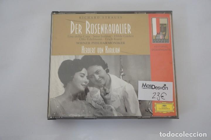 CD - RICHARD STRAUSS - DER ROSENKAVALIER / HERBERT VON KARAJAN - 3 CD - COMO NUEVO (Música - CD's Otros Estilos)
