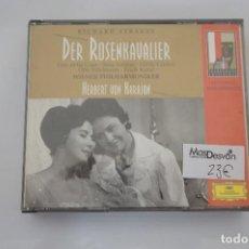 CDs de Música: CD - RICHARD STRAUSS - DER ROSENKAVALIER / HERBERT VON KARAJAN - 3 CD - COMO NUEVO. Lote 284221663