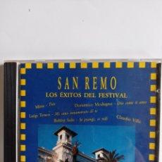 CDs de Música: CD EXITOS DEL FESTIVAL SAN REMO / EDITADO POR DIVUCSA - 1992. Lote 284582633