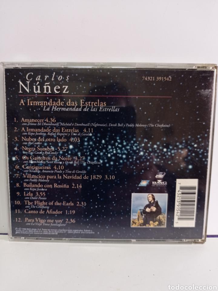 """CDs de Música: CD DE CARLOS NUÑEZ / """" LA HERMANDAD DE LAS ESTRELLAS / EDITADO POR ARIOLA - 1996. - Foto 3 - 284589713"""