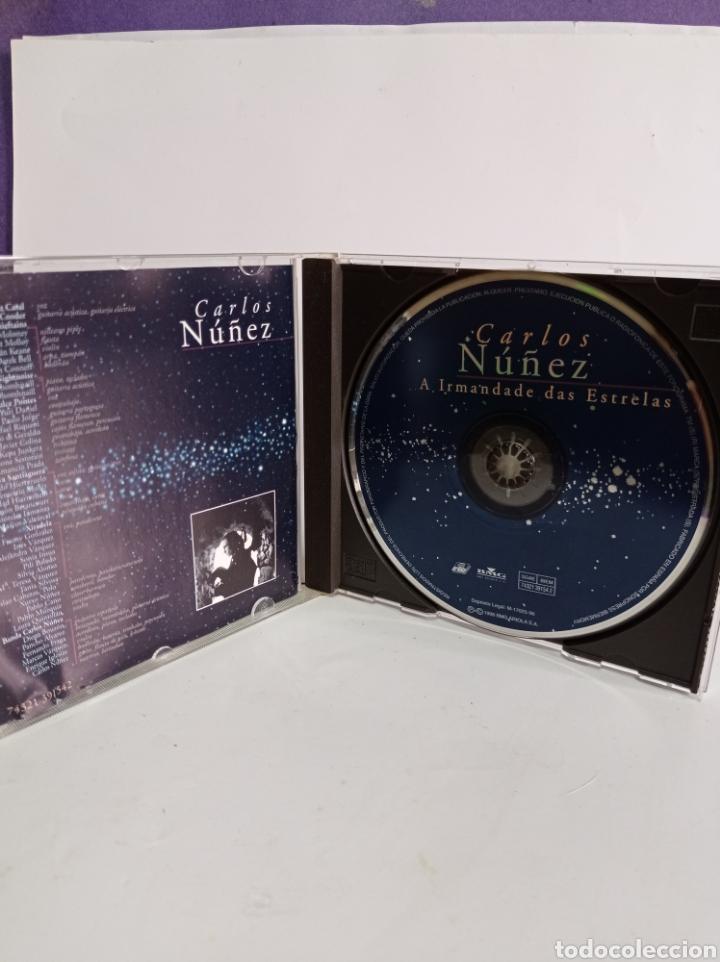 """CDs de Música: CD DE CARLOS NUÑEZ / """" LA HERMANDAD DE LAS ESTRELLAS / EDITADO POR ARIOLA - 1996. - Foto 2 - 284589713"""