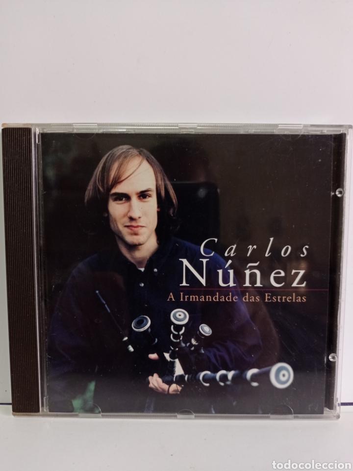 """CD DE CARLOS NUÑEZ / """" LA HERMANDAD DE LAS ESTRELLAS / EDITADO POR ARIOLA - 1996. (Música - CD's Melódica )"""